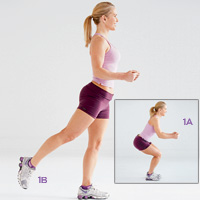 Image result for squats with an alternating kickback