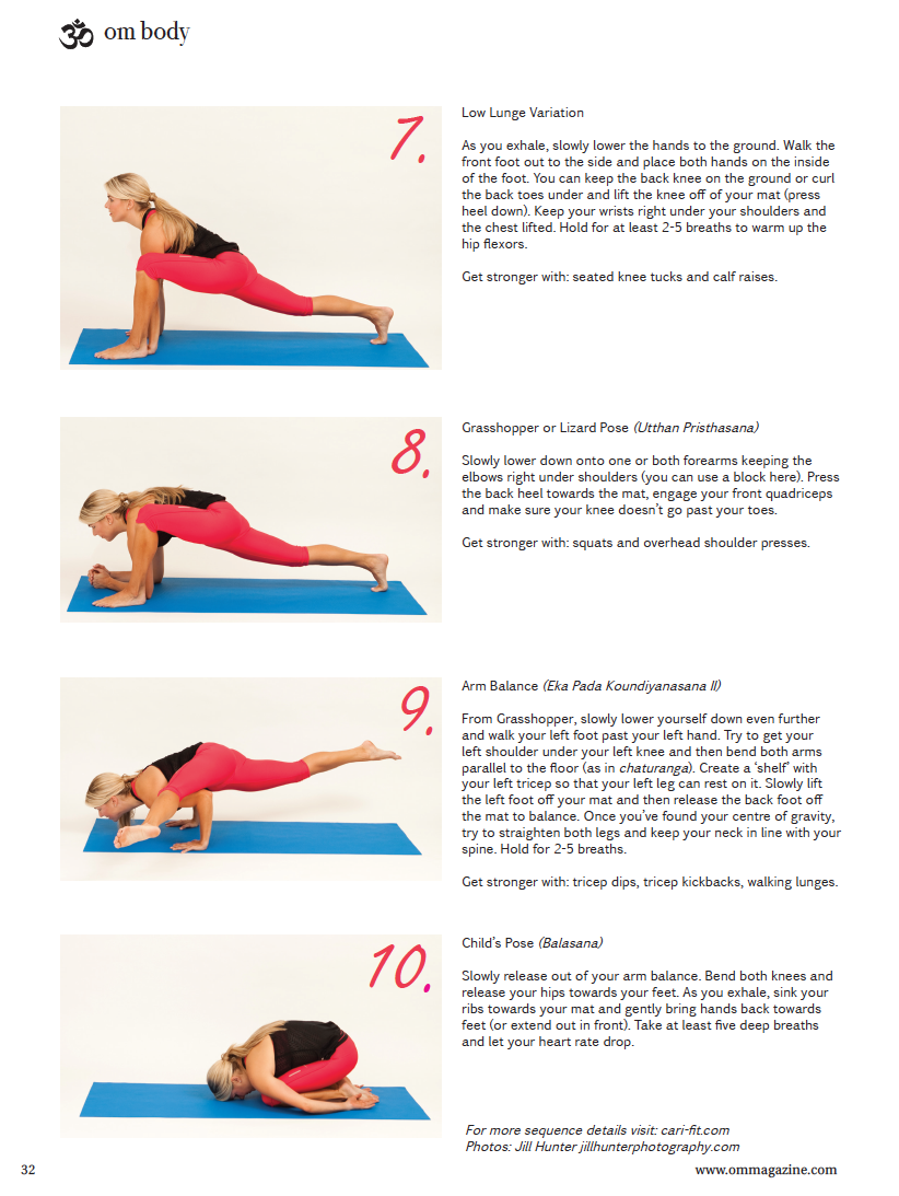 Balance Amp Hip Opener Sequence Featured In Om Yoga